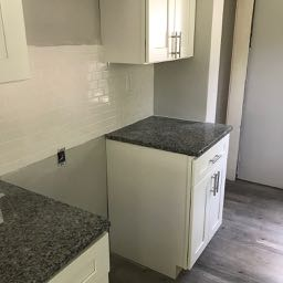 Granite and backsplash